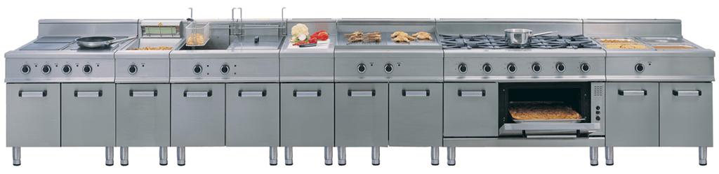 service, echipamente profesionale HORECA, restaurant, masina cuburi gheata, masa frigorifica  Contact linie de gatit 900